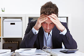 frustrated typical insurance broker
